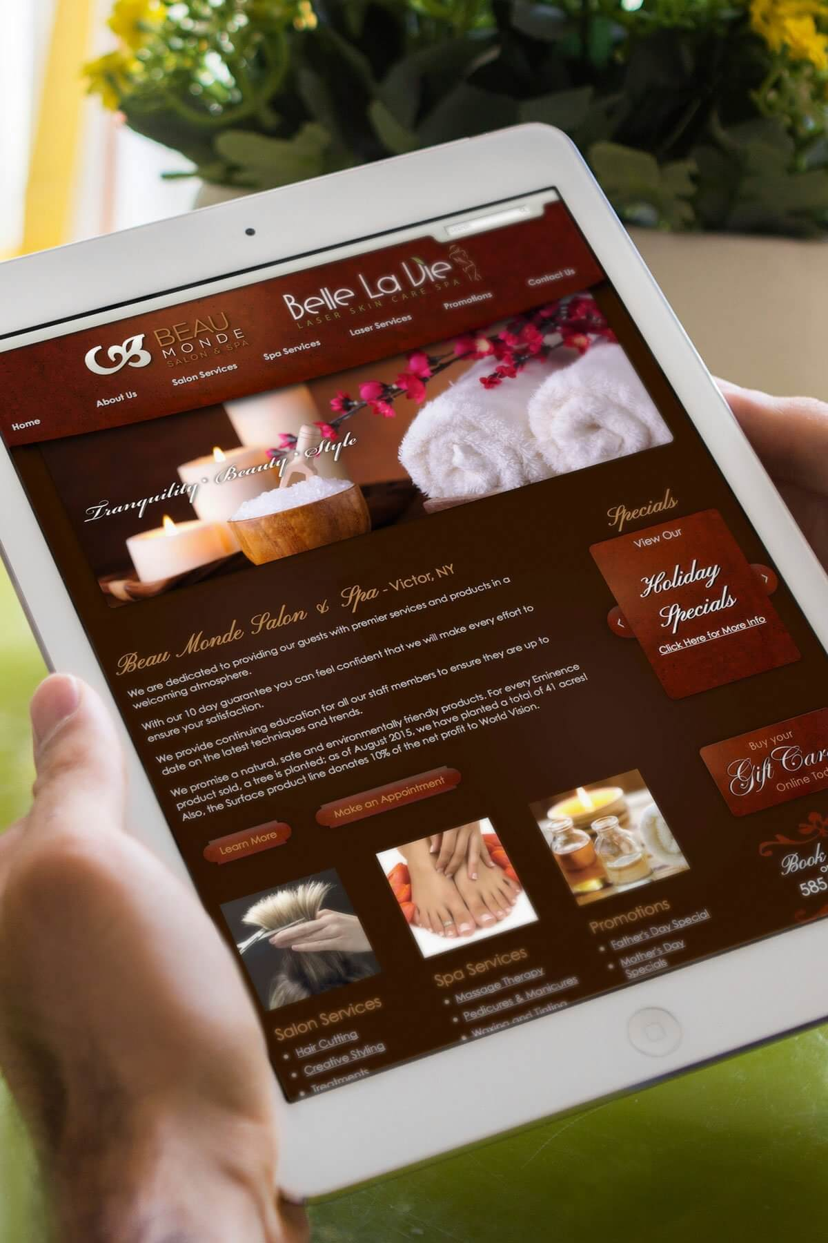Website design portfolio sample