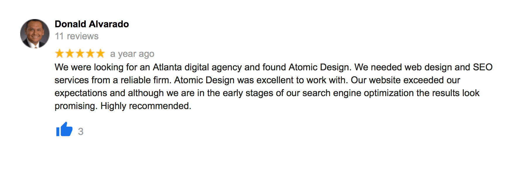 Reviews 0 atlanta seo web atomic design reviews